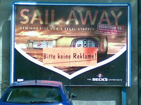 Bitte keine Reklame auf dieReklame kleben!